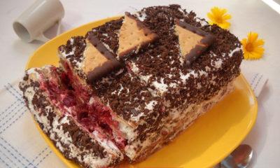 Keks torta sa višnjama - Pošalji Recept