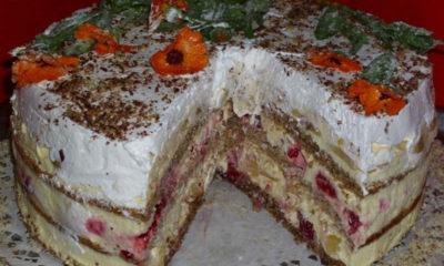 Žuta voćna torta - Pošalji Recept